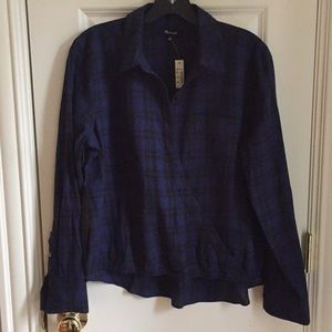 Madewell Plaid Shirt -Size Medium New with Tags